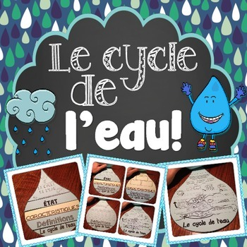 LE CYCLE DE L'EAU - FRENCH WATER CYCLE FLIP BOOK ACTIVITY