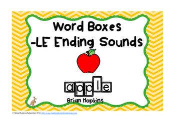 LE Ending Sounds Word Boxes