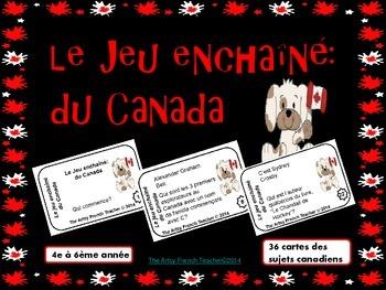 """LE JEU ENCHAÎNÉ DU CANADA: """"J'ai...Qui a...?"""" des sujets d"""