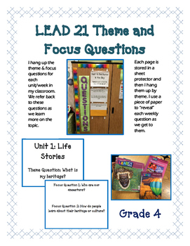 LEAD 21 - Grade 4 - Unit, Theme, Focus Questions