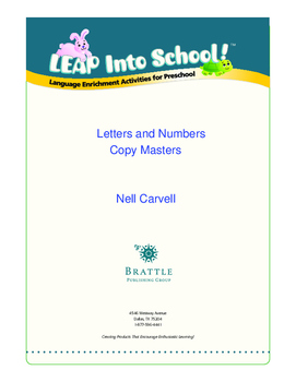 LEAP Into School! Letters and Numbers Copy Masters (A-Z and 1-10)