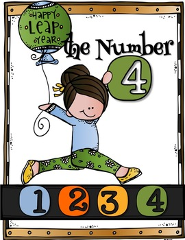LEAP YEAR & the Number 4 (Math & Literacy Activities)