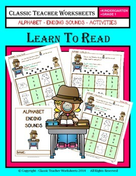 Ending Sounds - Ending Sounds Activities - Kindergarten to