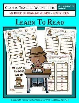 Rhyming Words - My Book of Rhyming Words - Kindergarten to