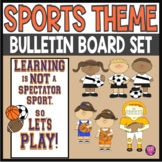 SPORTS THEME GROWTH MINDSET BULLETIN BOARD SET