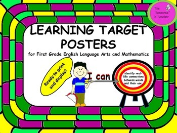 LEARNING TARGET POSTERS for First Grade English Language A