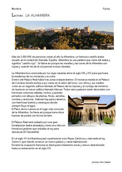 SPANISH READING: LA ALHAMBRA