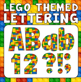 LEGO DISPLAY LETTERING - KS 1-2 EARLY YEARS TOYS LETTERS NUMBERS