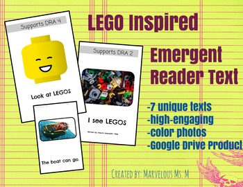 LEGO Inspired Emerging Readers Texts/Books [Google Drive Product]