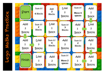 LEGO maths and spelling activities