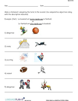 LEISURE ACTIVITIES, VERBS (FRENCH)