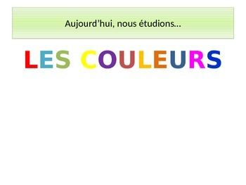 LES COULEURS: Power Point Lesson on French Colors (Beginne