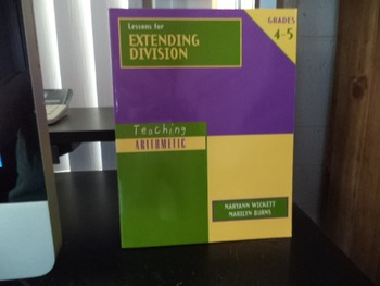 LESSONS FOR EXTENDING DIVISION  ISBN0-941355-46-2