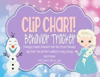 LET IT GO! Ice Princess Behavior Clip Chart