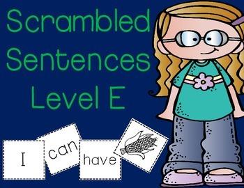 LEVEL E Sight Word Making Sentences