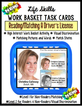 LIFE SKILLS Work Task – DRIVER'S LICENSE Functional Readin