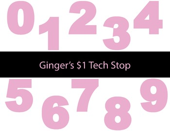 LIGHT / PASTEL PINK * Bulletin Board * Numbers * 012345678