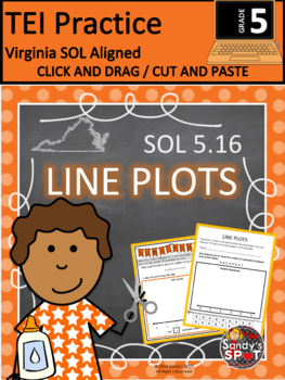 LINE PLOTS CUT AND PASTE CLICK AND DRAG VIRGINIA SOL GRADE 3