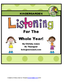 LISTENING WORKSHEETS FOR THE WHOLE YEAR- Kindergarten