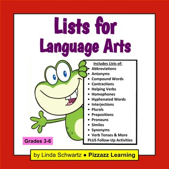 LISTS FOR LANGUAGE ARTS
