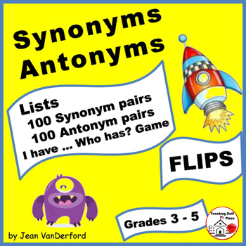 Lists | SYNONYMS | ANTONYMS | Interactive | Monster Theme