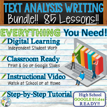 TEXTUAL EVIDENCE and ANALYSIS - LITERATURE PROMPTS BUNDLE!