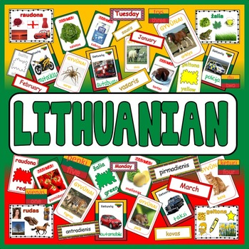 LITHUANIAN LANGUAGE TEACHING RESOURCES DISPLAY posters fla