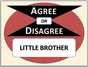 LITTLE BROTHER - Agree or Disagree Pre-reading Activity