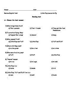 LITTLE FLAP LEARNS TO FLY WONDERS READING 2ND GRADE UNIT 1 WEEK 1
