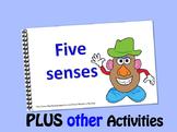 Mr. Potato has 5 senses LITTLE INTERACTIVE BOOK plus activities