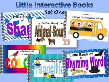 LITTLE INTERACTIVE BOOKS  Set One, Animal colors&sounds, R