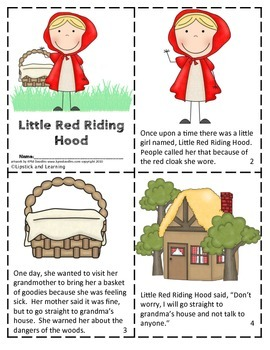 LITTLE RED RIDING HOOD Mini Reader