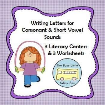 L.K.2.C Writing Letters for Consonant & Short Vowel Sounds