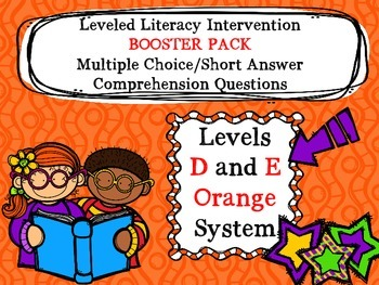 LLI BOOSTER PACK Multiple Choice Comprehension Assessment