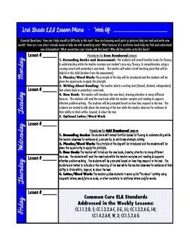 LLI (Blue Kit) Lesson Plan Template