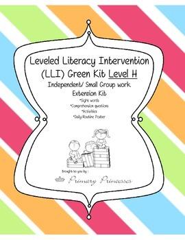 LLI Green Kit Level H Remediation/ Small Group Kit