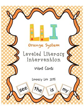 Orange System Word Cards