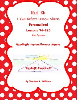 """Red """"I Can Reflect"""" Worksheets Lessons 97 - 128"""