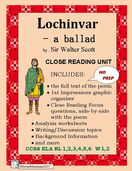 LOCHINVAR - Close Study of the Ballad, with Text of the Poem