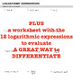 LOGARITHMS - Evaluating Logarithmic Expressions