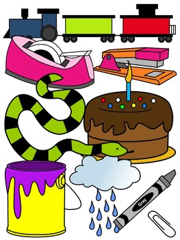LONG A CLIP ART * COLOR AND BLACK AND WHITE