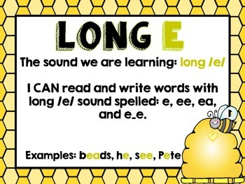 LONG E (ea, e and ee) Cards!