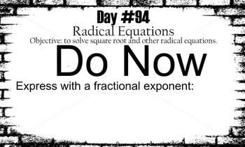 LONG HAUL: Algebra 2  Rational Expressions Smartboard #43