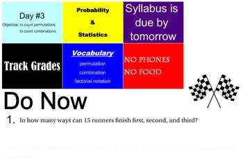 LONG HAUL: Algebra2 Combinations Smartboard