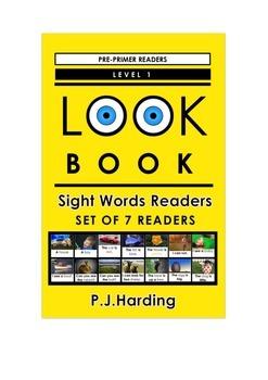 LOOK BOOK Sight Words Readers Level 1 Pre-primer Set