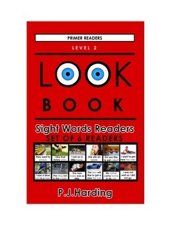 LOOK BOOK Sight Words Readers Level 2 Primer Set