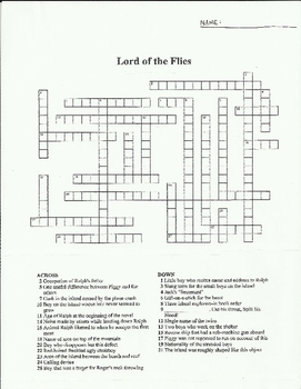 LORD OF THE FLIES DUAL ASSIGNMENT ACTIVITY PACK