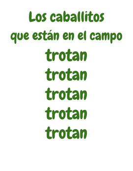 LOS CABALLOS TROTAN