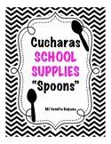 """LOS MATERIALES ESCOLARES/ SCHOOL SUPPLIES VOCABULARY """"CUCH"""