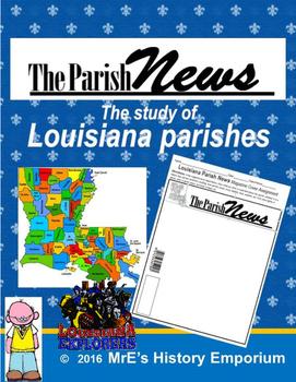 LOUISIANA  Parish News 2 Magazine Cover Artwork
